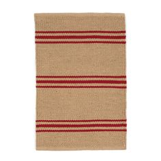 Create a sophisticated interior with this Lexington Rug from Dash & Albert. Its understated profile has been formed using chic neutral tones with contrasting red striping. Crafted from 100% recycled p