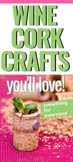 Wine Cork Crafts For The Whole Family. There Are Christmas And Valentine's Day Crafts, Home Decor, Wedding Placemats, And More. You'll Love These Easy Wine Cork Projects Easy Crafts For Kids, Easy Diy Crafts, Fun Crafts, Wine Cork Projects, Wine Cork Crafts, Wine Cork Wreath, Christmas Craft Projects, Educational Crafts, Wine Decor
