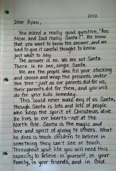 Heartwarming Letters to Explain Santa to Your Kids 4 Heartwarming Letters to Explain Santa to Your Kids.I don't want this day to Heartwarming Letters to Explain Santa to Your Kids. Letter Explaining Santa, Santa Letter, All Things Christmas, Holiday Fun, Christmas Time, Christmas Ideas, Holiday Ideas, Christmas Crafts, Christmas Quotes
