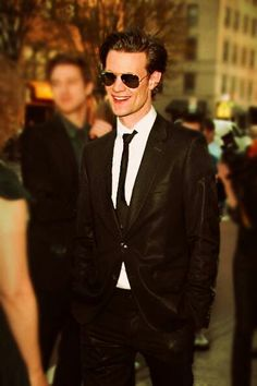 Matt Smith. Generally, I think some kind of mandatory suit and aviator wearing law should be passed for all males...