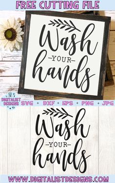 Free Wash Your Hands SVG cut file! This would be amazing for a variety of DIY boho craft projects such as: HTV T-shirts, Silhouette Cameo Projects, Silhouette Studio, Free Silhouette Files, Silhouette Machine, Free Svg, Cricut Svg Files Free, Suncatcher, How To Make Tshirts, Stencil Diy