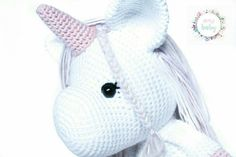 Nursery decor, stuffed unicorn, lovely unicorn. Crochet Baby Toys, Nursery Decor, Stuffed Unicorn, Hello Kitty, Etsy, Kids, Girls Toys, Plushies, Amigurumi