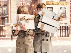 #BurberryWithLove the new campaign by #Burberry for #Christmas