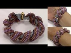How to Finish Flat Cellini Stitch Bracelet - YouTube