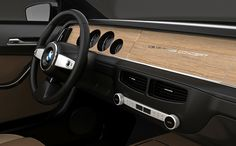 Nothing more beautiful than classic wood and leather, simple minimalistic interior dash -  by David Obendorfer, the BMW CS Vintage Concept is meant to be a modern take on the classic BMW E9 models, from the 2000C and 2000CS models to the 3.0CSL, a couple of the most interesting and ...