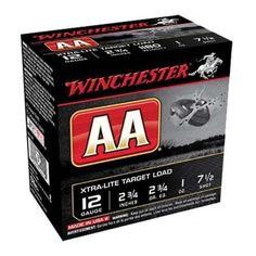 Winchester 12Ga AA Extra-Lite shotgun ammunition uses proven hard shot for tighter, hard hitting patterns.