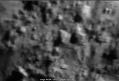 Recent NASA image of Tycho Crater on the Moon with what appears to be buildings.