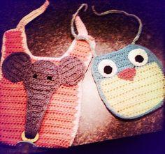Crocheted baby Bibs