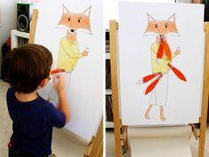 Pin the tail on the fox game from A Fantastic Mr. Fox Birthday Party by Nancy Cho.