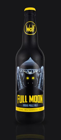 Wolf Beer Label & Bottle design