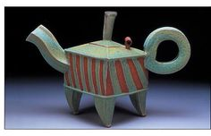 I love the teapots by Hayne Bayliss. Fabulous.