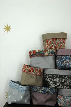 How to make fabric storage bins by Canal Blog #crafts #sewing