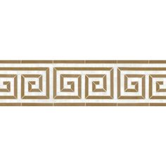 Talya Multi Finish Justinian S D Marble Waterjet Borders 5x12 1/6 - From Country Floors of America