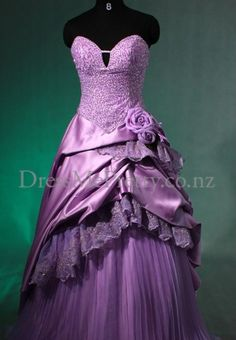 Satin Sexy V-neck with Ball Gown Hot Sell Bridal Dress #purple