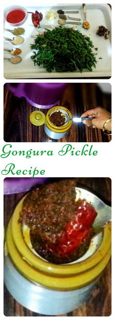 Gongura Pickle Recipe is very simple and easy recipe in which Sautéed Gongura Leaves is grinded with spices, mixed with Garlic Pods and tempered with Red Chillies and Asafoetida. This pickle is served with hot rice with a dollop of Ghee