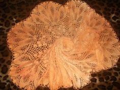 "Knitted shawl ""Golden Autumn"""