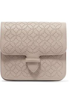 Alaïa - Arabesque Mini Embellished Leather Shoulder Bag - Light gray - one size