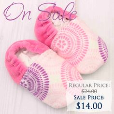 Adorable infant crib shoes on sale.  These and more great items on sale during our winter clearance sale.