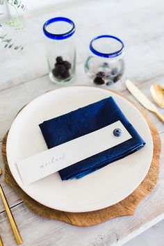 blueberry farm wedding ideas | Harmony Lynn Photography | Glamour & Grace Farm Wedding, Blue Wedding, Wedding Tips, Wedding Planning, Dream Wedding, Blueberry Wedding, Blueberry Farm, Event Styling, Place Settings