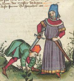 Ms. germ. qu. 12 - Die sieben weisen Meister Schreiber Hans <Dirmstein> Erschienen Frankfurt, 1471 Folio 66v