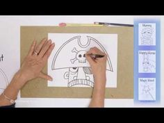 Teaching Kids How to Draw: How to Draw a Cartoon Pirate - YouTube