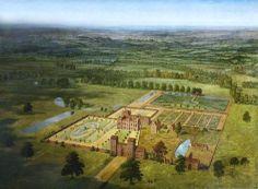 .:. 1710 after Jan Siberechts, (Flemish-born English artist, 1627‑c.1700)  Belhus House and Park