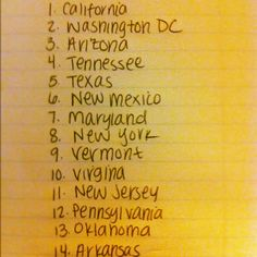 States from our cross-country road trip ranked from best to worst based on overall experience