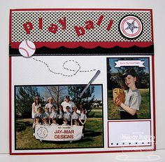 sport layouts for scrapbooking   Paper Melody: MFT'S December Teasers Day 4