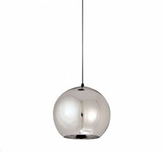 Lampa wisząca MIRROR GLOW srebrna 25 cm srebrny   Lampy wiszące   Step in2 Design