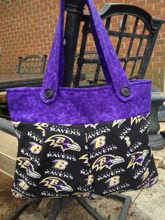 BALTIMORE RAVENS  NFL football Handbag / shoulder by myGBdesigns, $59.00