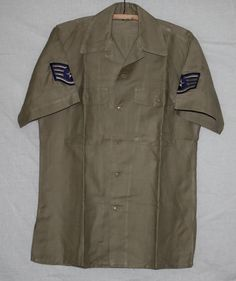 Vintage US Air Force Short Sleeve Shirt with by ilovevintagestuff