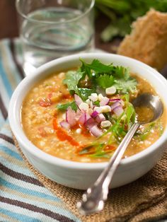 Red Lentil Corn Chowder (vegan)