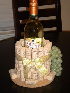 Cork Wine Bottle Holder by LilCodyDesigns on Etsy, $18.00