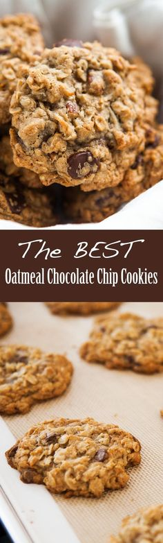 Chewy oatmeal chocolate chip cookies with browned butter, chocolate chips, and pecans. (Everything is better with browned butter) These really are the BEST!