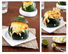 Mi Gran Diversión: Calabacín relleno de verduras y pollo al curry