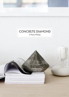 DIY Concrete Diamond. The perfect modern edge. xx Dressed to Death xx #design #inspiration #decor