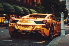Ferrari Gold by Edagr Katkov Ferrari Laferrari, Lamborghini Aventador, Porsche, Audi, Bmw, Super Sport Cars, Mc Laren, Mclaren P1, Most Expensive Car