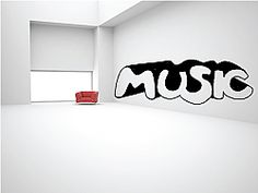 Let our Music The Word Wall Decal shout your love for music from your walls. This Music The Word Wall Decal adds a bold, urban look to any room.