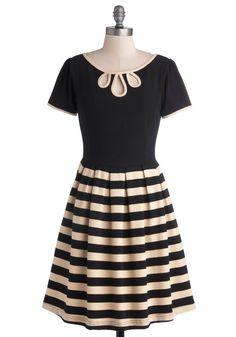 Black & Cream Striped Skirt