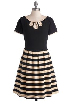 Twirl Next Door Dress. For your new neighborhoods party, why not show up in this darlingDear Creatures dress and make a lasting impression? #black #modcloth