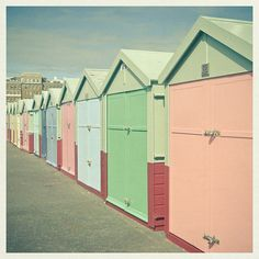 Coastal Bathroom Decor, Beach Hut, Pastel Decor - By the Sea Pastel Decor, Pastel Colors, Beachy Colors, Pastel Shades, Coastal Bathroom Decor, Seaside Decor, British Seaside, Brighton And Hove, Visit Brighton