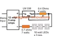 Universal High Watt LED Current Limiter Circuit - Constant Current Circuit for LEDs | Homemade Circuit Projects