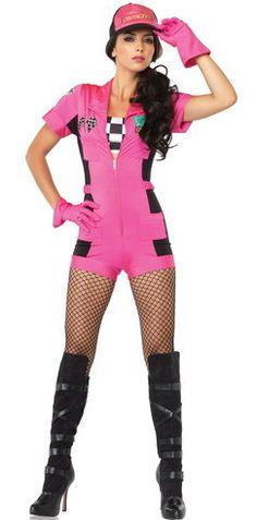 4 PC Pit Crew Vixen Costume