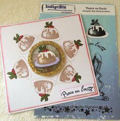 Birdcage Craft Studio  Christmas Pudding Card