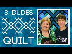 Man Sewing 012 - 3 Dudes Quilt