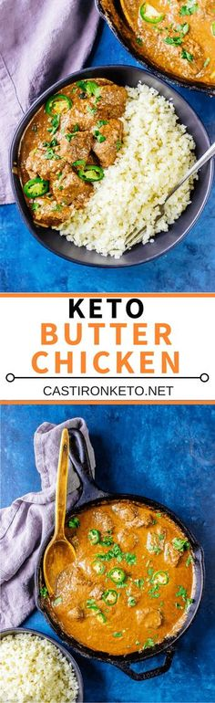 Butter Chicken Keto Butter Chicken - this recipe is easy, delicious, and low carb! The perfect Indian recipe!Keto Butter Chicken - this recipe is easy, delicious, and low carb! The perfect Indian recipe! Ketogenic Recipes, Low Carb Recipes, Diet Recipes, Chicken Recipes, Cooking Recipes, Healthy Recipes, Ketogenic Diet, Keto Chicken, Bon Appetit