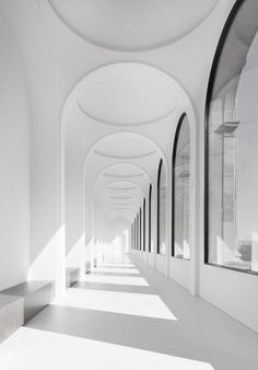 There is something so entrancing about the archways in this project featured by the Neue Galerie in Kassel by German Architect Volker Staab of Staab Architekten Photo © Werner Huthmacher via ​. Architecture Design, Amazing Architecture, Minimal Architecture, Arch Building, Building Ideas, Interior And Exterior, Interior Design, Home Design, Interior Ideas