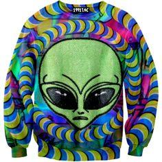 ☮♡ Trippy Alien Sweater ✞☆