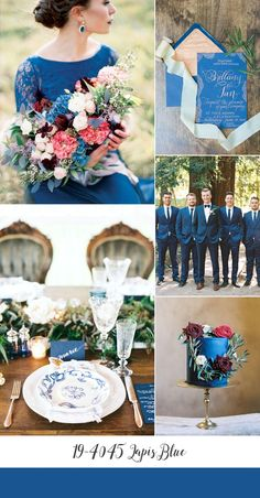 Lapis Blue Wedding Inspiration Board