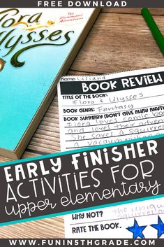 "This blog post gives you SO many great activities to help your early finishers find something to do when the rest of the class is still working!  If you've heard the dreaded ""I'm done, what should I do?"" this post is for you!  Help your upper elementary students learn what they should be doing with an anchor chart and LOTS of fun activities!"